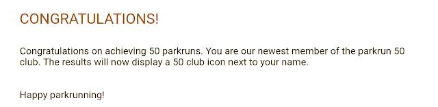 Parkrun 50 Club
