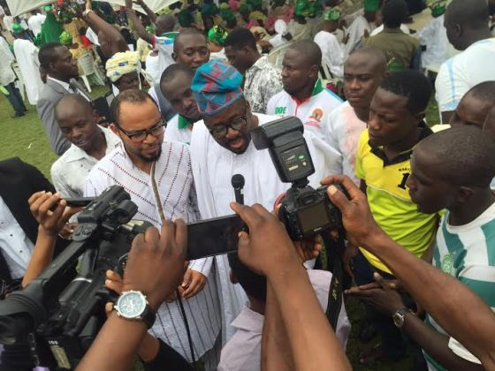 Desmond Elliot And Ramsey Nouah at Inauguration