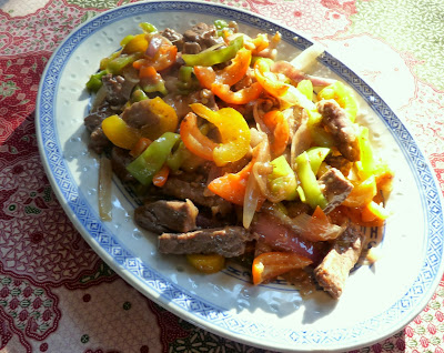 Pepper Steak (Stir Fried Beef with Peppers & Onions)
