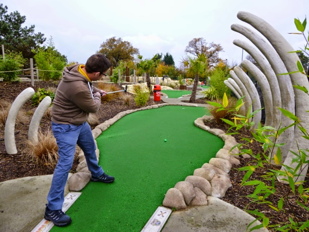 Richard Gottfried at the Jungle Island Adventure Golf course in Epsom