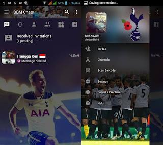BBM Mod Tottenham v3.2.0.06 apk terbaru
