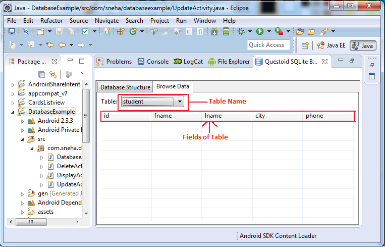 Sneha Patel Blog: Insert, Update and Delete With Sqlite