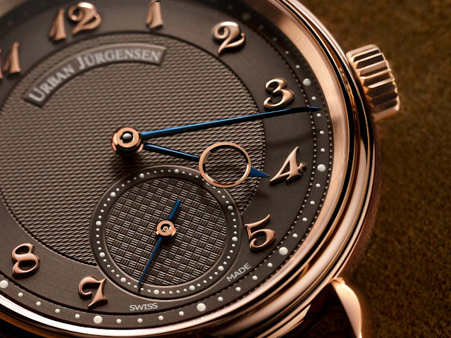 Urban Jurgensen 1140 RG Brown Limited Edition, dial detail