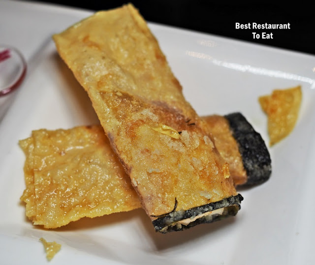 Summer Palace Dim Sum Set Lunch Menu - Deep Fried Crispy Beancurd Roll With Prawns & Cheese