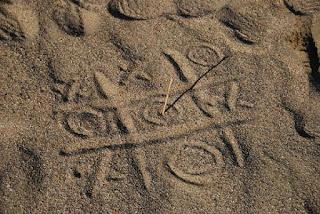 jogo da velha na praia
