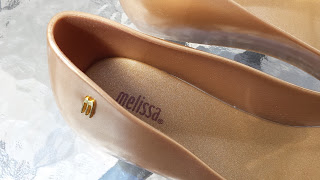 Melissa gold flat shoes