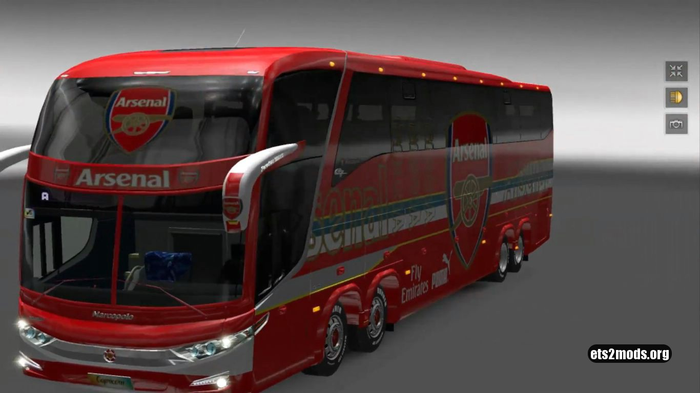 Bus – Marcopolo G7 1600LD Arsenal FC Skin