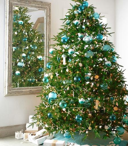 Blue Coastal Ornaments