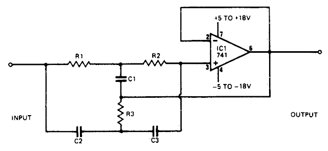 audio rejection filter circuit