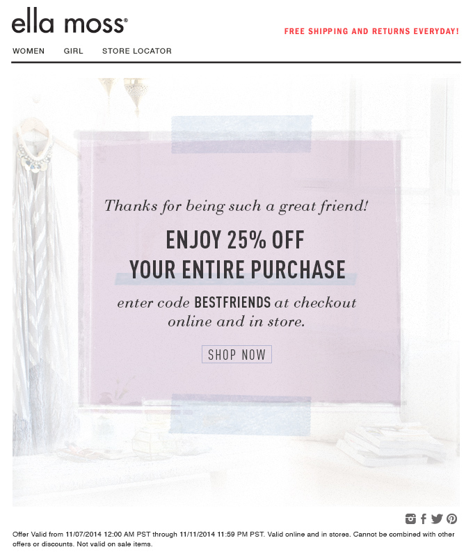 Ella Moss | Friends and Family 25% off