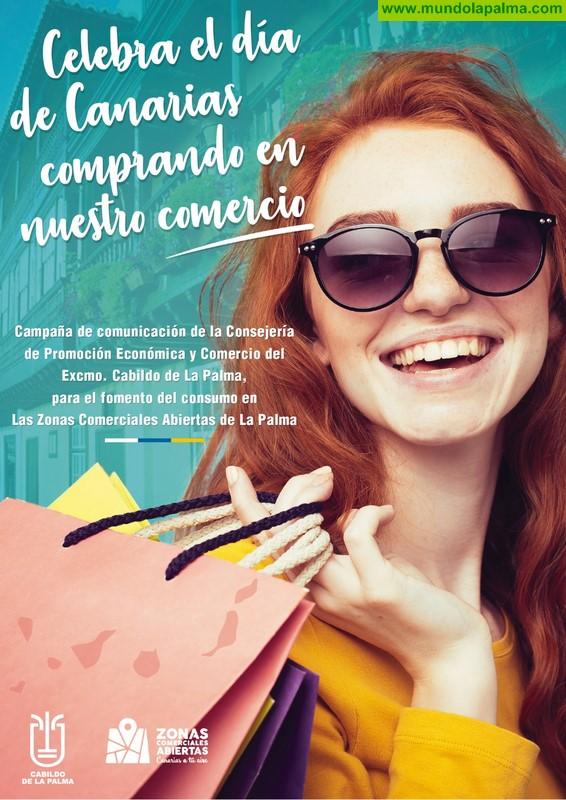 El Cabildo fomenta las compras en las zonas comerciales abiertas de la isla con motivo del Día de Canarias