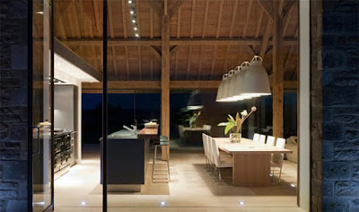 Desain Dekorasi Ruang Makan Natural Luar Ruangan