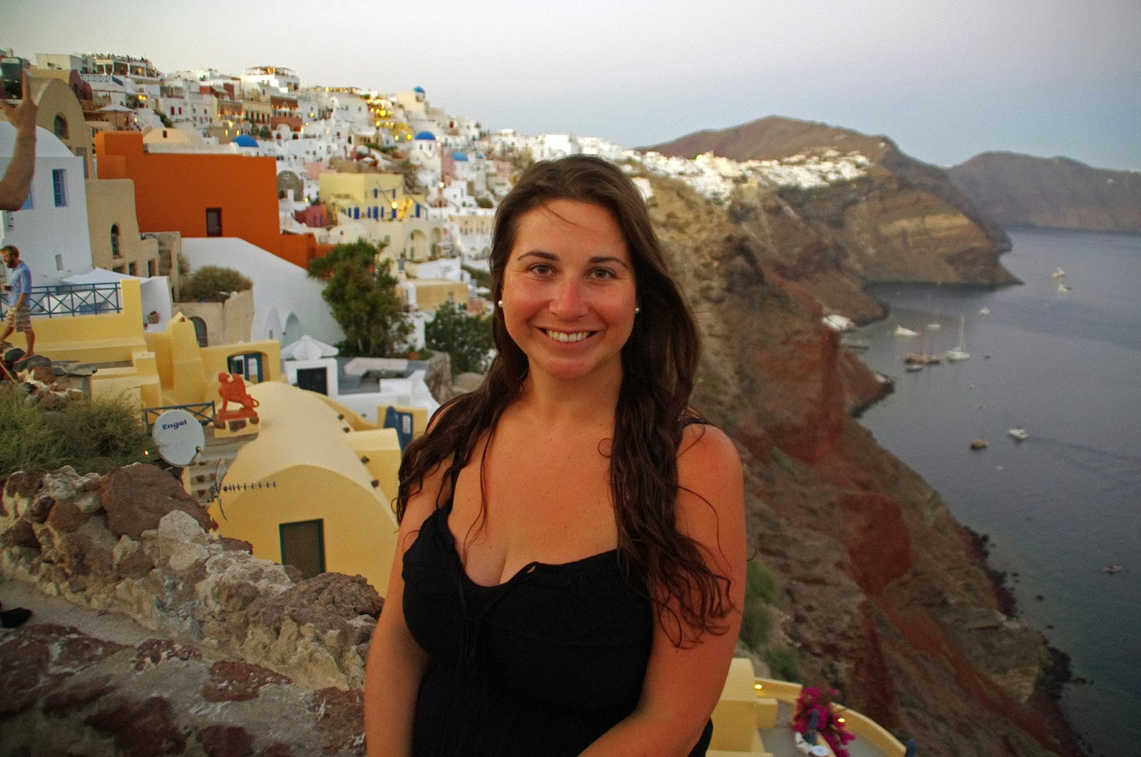 Girl in Oia Santorini