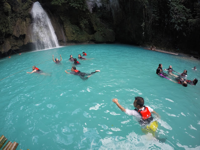 Swimming at Kawasan Falls