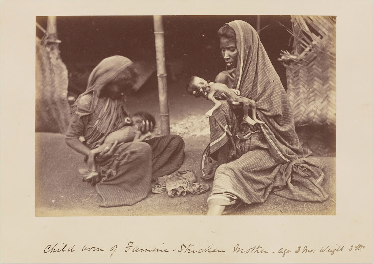 Famine Victim Mothers and Children - India c1877