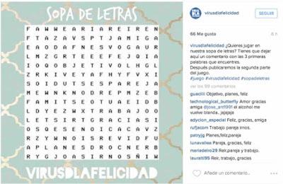 Virus de la felicidad en Instagram