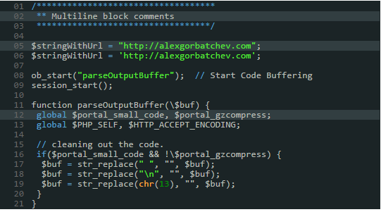 syntax highlighter Rdark theme shortcode