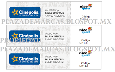 boletos cinepolis gracias a nicequest