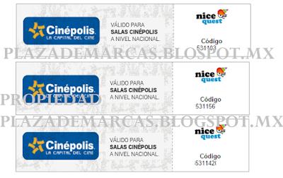 boletos cinepolis gracias a nicequest