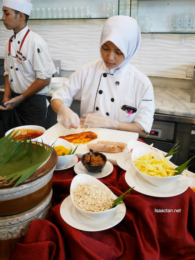 Popiah preparation
