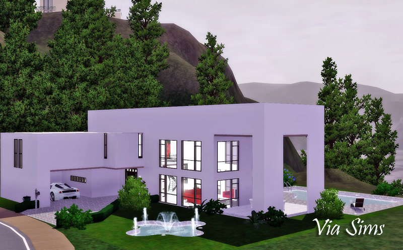 Bridgeport house the sims 3 via sims for Casa moderna sims 3 sin expansiones