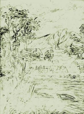 Pale Landscape Painting