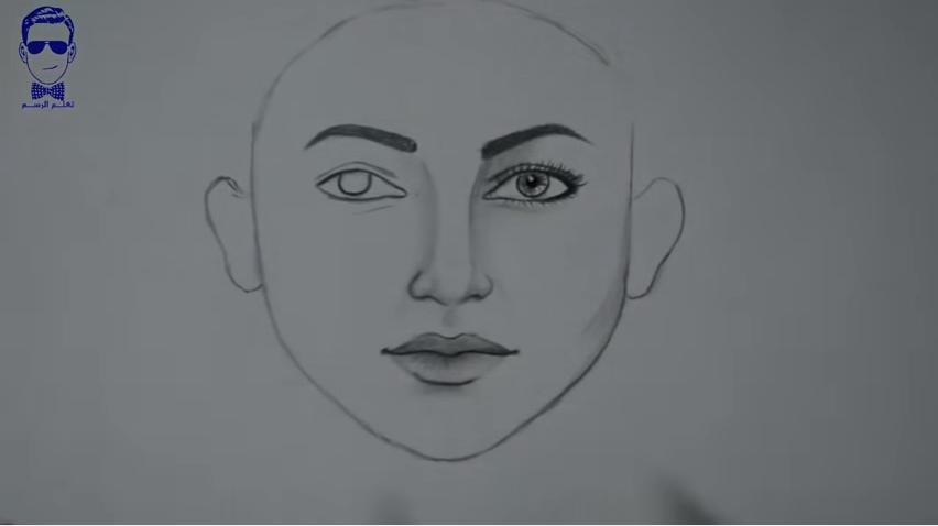 تعلم رسم الوجه بالرصاص للمبتدئين و بخطوات بسيطة و بالصور