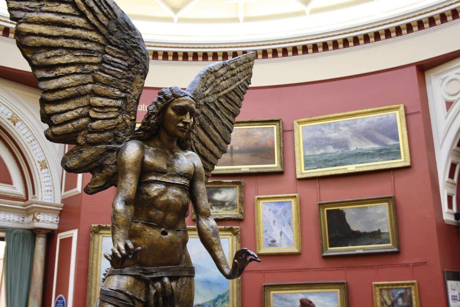 A Sir Jacob Epstein sculpture named Lucifer at the Birmingham Museum and Art Gallery