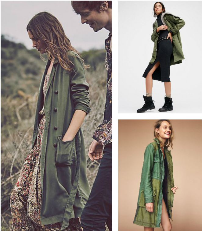 Cool pregnancy style - oversized parkas and military jackets by Free People
