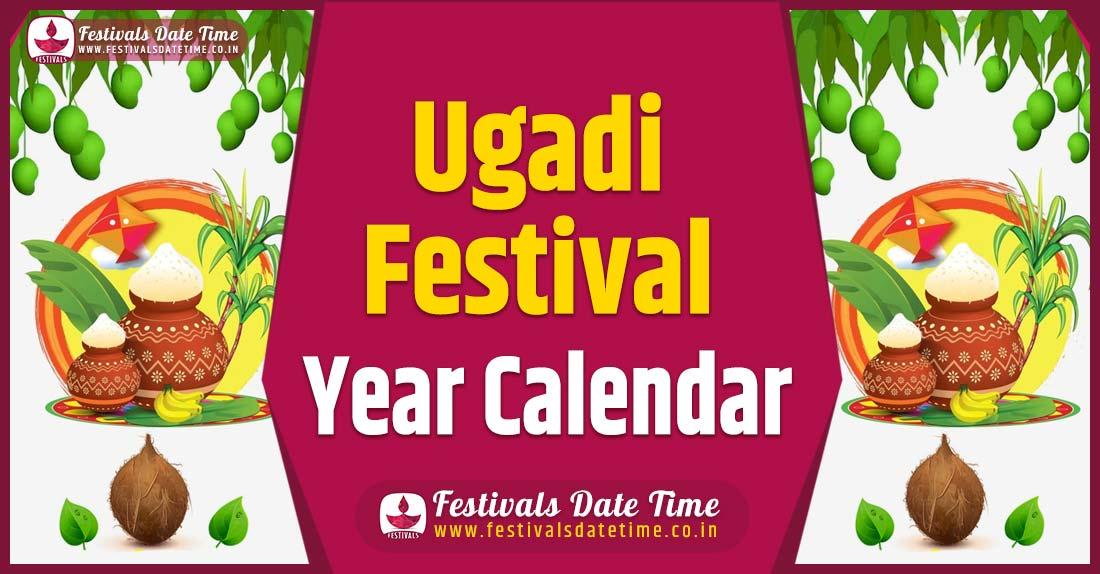Ugadi Year Calendar, Ugadi Festival Schedule