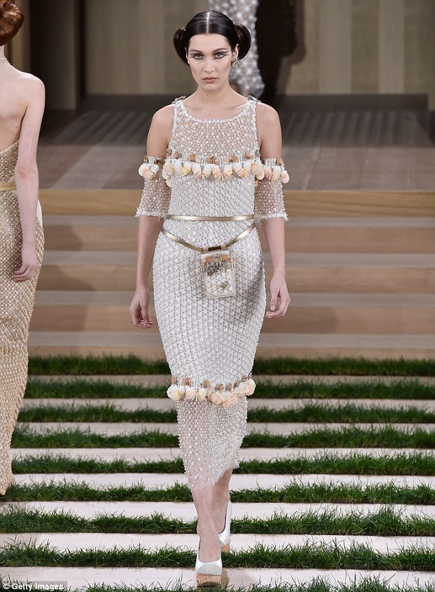 Gigi and Bella Hadid make a style statement at Chanel's 2016 Couture show