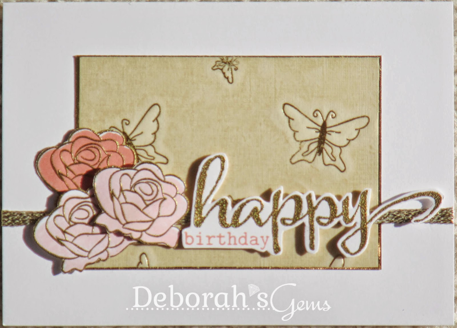 Happy Birthday Mum detail - photo by Deborah Frings - Deborah's Gems