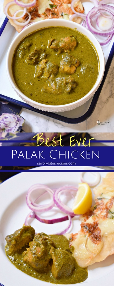 Spinach Chicken Palak Murgh Curry