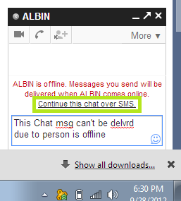 How to send Gmail chat msg via SMS : Intelligent Computing