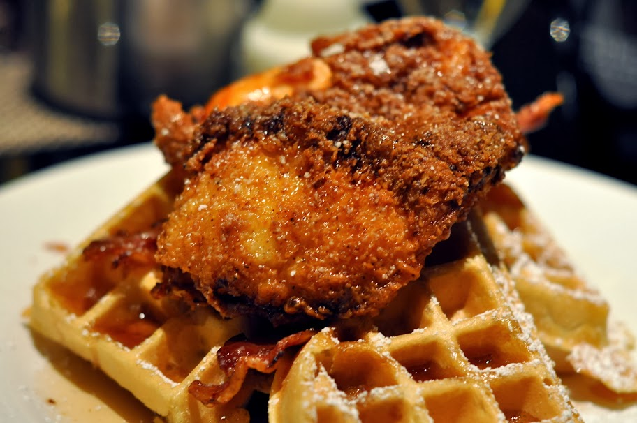 Chicken and Waffles - The Café - THEHotel - Las Vegas, NV | Taste As You Go