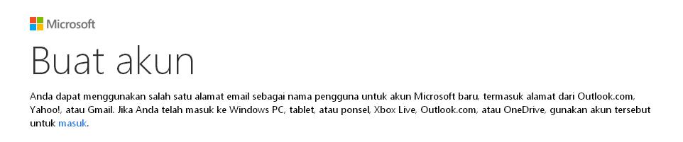 Cara Membuat Akun Microsoft
