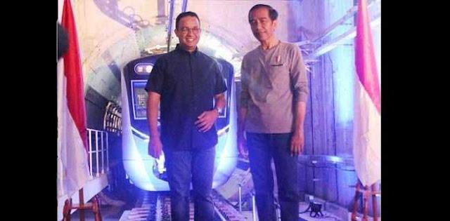 Di MRT, Jokowi Kehilangan Simpati