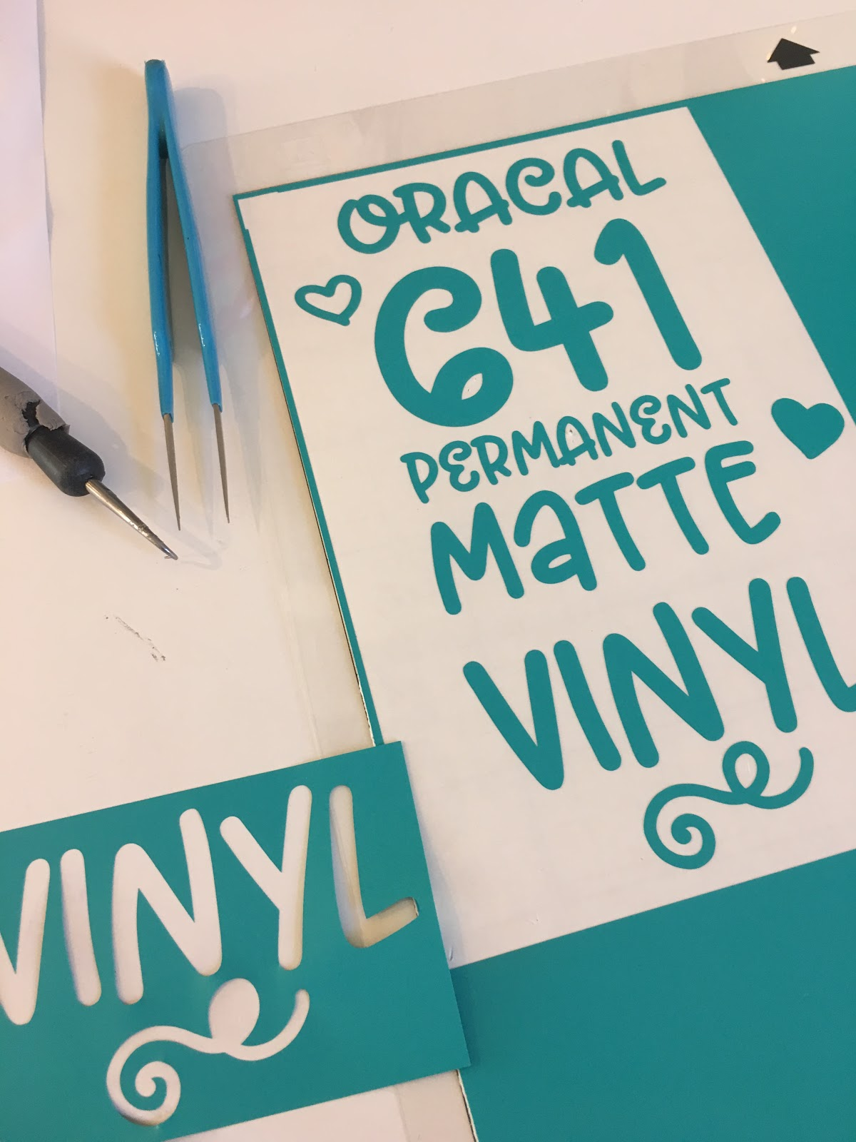 Oracal 641: Matte Permanent Vinyl (Best Silhouette CAMEO Cut