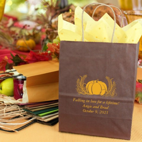 Personalized Fall Wedding Gift Bag