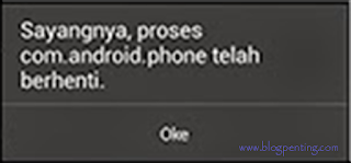 Force Close Android / Sayangnya Aplikasi Telah Berhenti