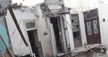 انهيار منزل بعزبة الصفيح
