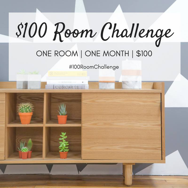 DIY | $100 Room Challenge | bathroom makeover