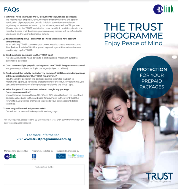 ez link trust programme spa wellness industry