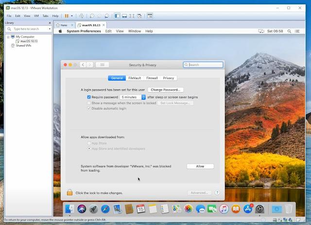 VMware Workstation 14 ,تثبيت نظام ماك 10.13.6 macOS High Sierra على  ويندوزWindows  كنظام وهمي