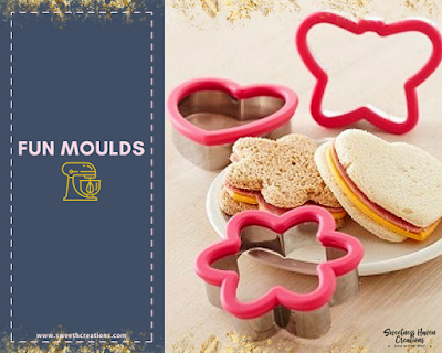 2.USE FUN COOKIE MOULDS TO CUT BACK ON DECORATION
