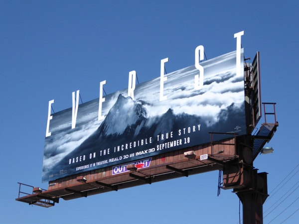 Special Everest movie billboard