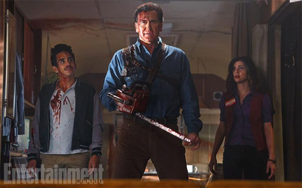 "Bruce Campbelll como Ash Williams en ""Ash Vs. Evil Dead"""
