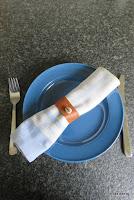 LoveLea's brown leather napkin ring, light shade