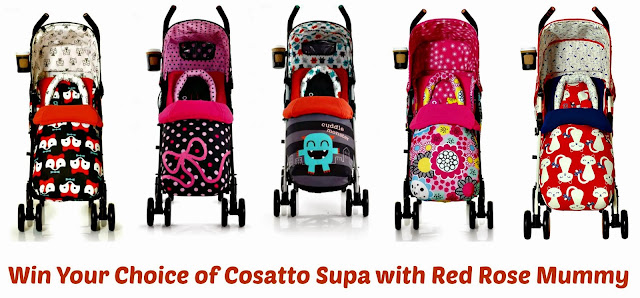 Win a Cosatto Supa Stroller with Red Rose Mummy