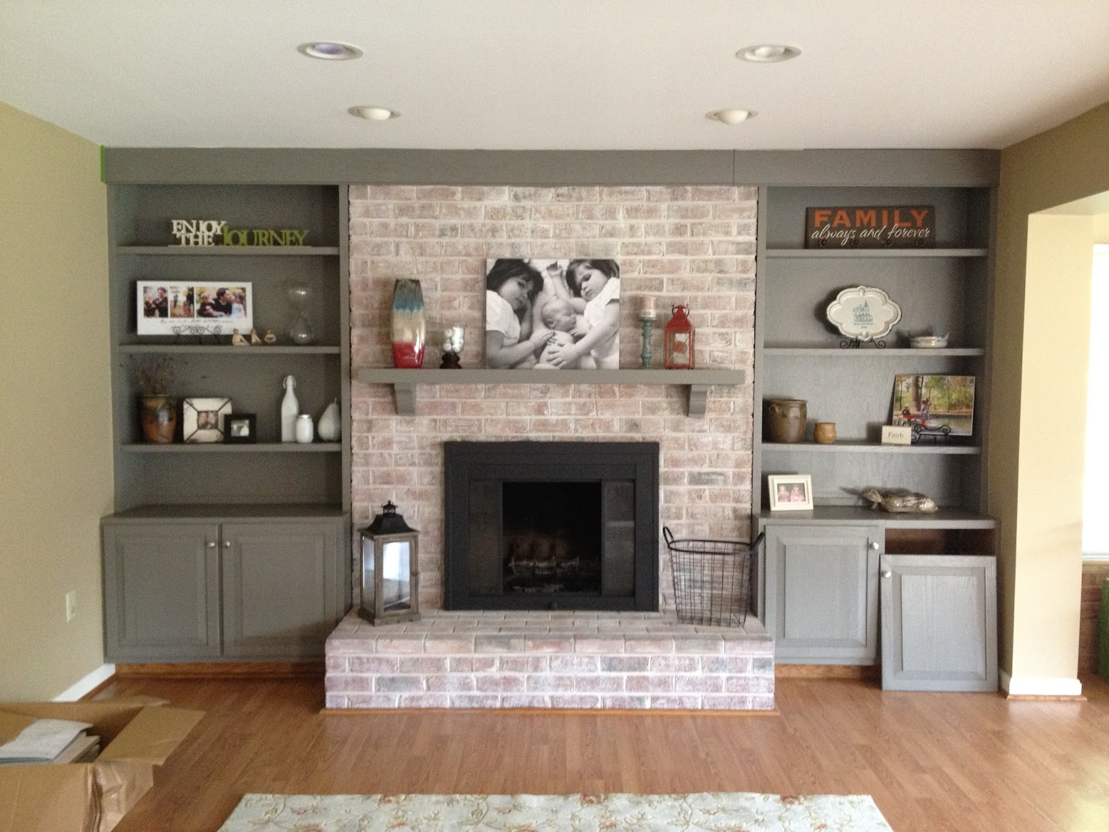 Whitewash Fireplace Before And After How To Paint A Brick Fireplace Infarrantly Creative